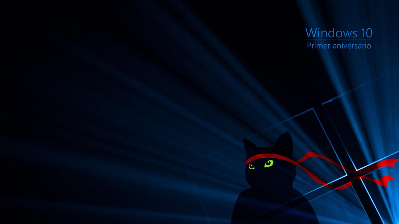Windows Insider Anniversary Ninjacat 1366x768-es-ES